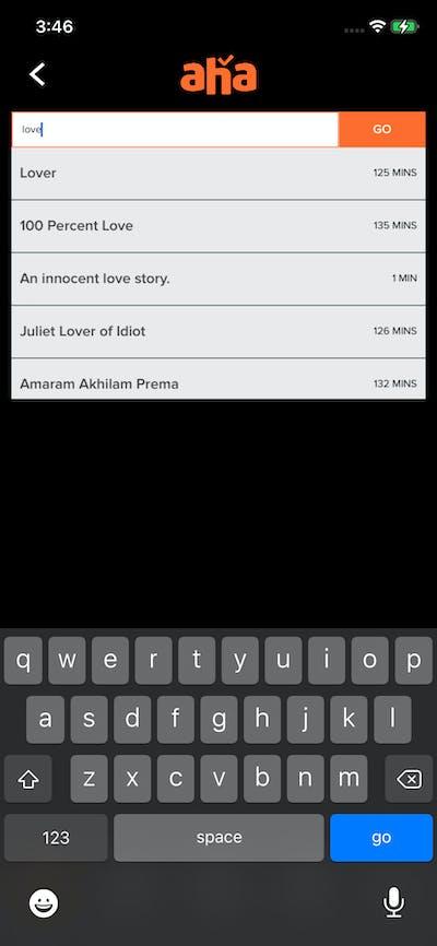 Search screenshot