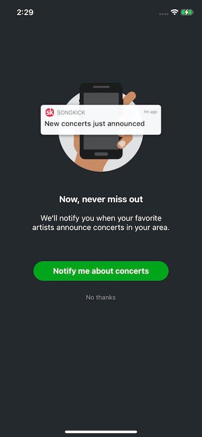 Permission screenshot
