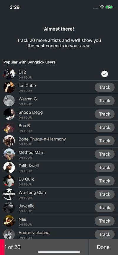 Setups screenshot