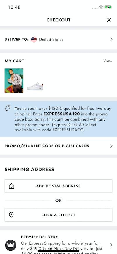 Checkout screenshot