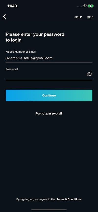 Logins screenshot