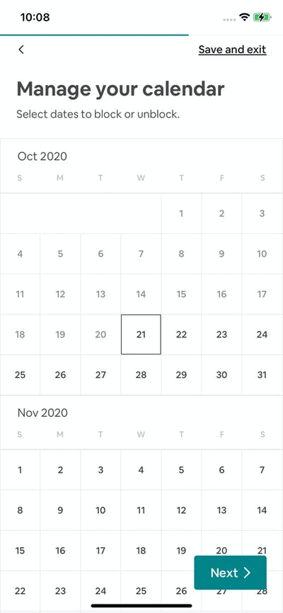 Calendars screenshot