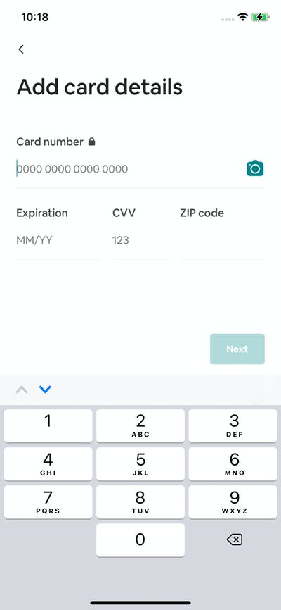 Payment Method screenshot