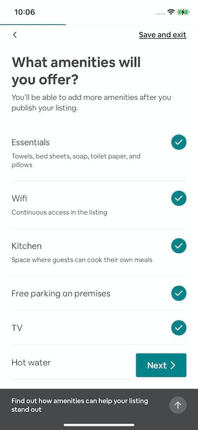 Booking Details screenshot