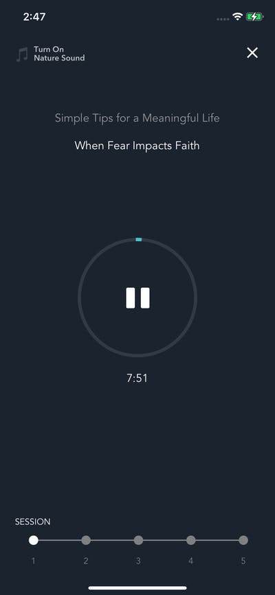 Audio Playback screenshot