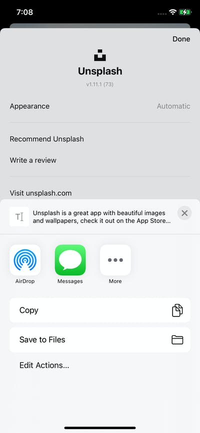 Share screenshot