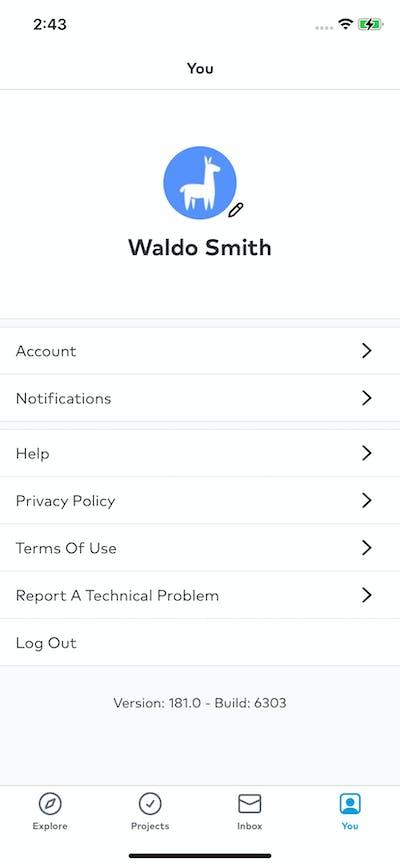 Profile & Account screenshot