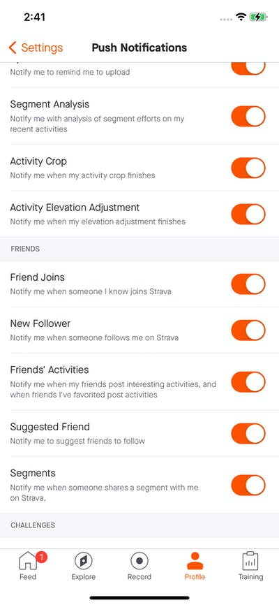Activity & Notification screenshot