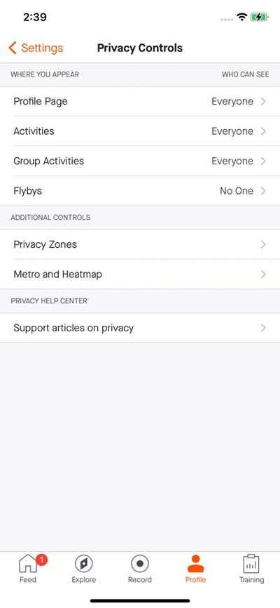 Privacy & Terms screenshot
