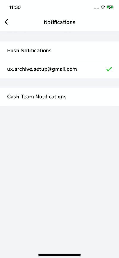 Activity & Notification screenshot