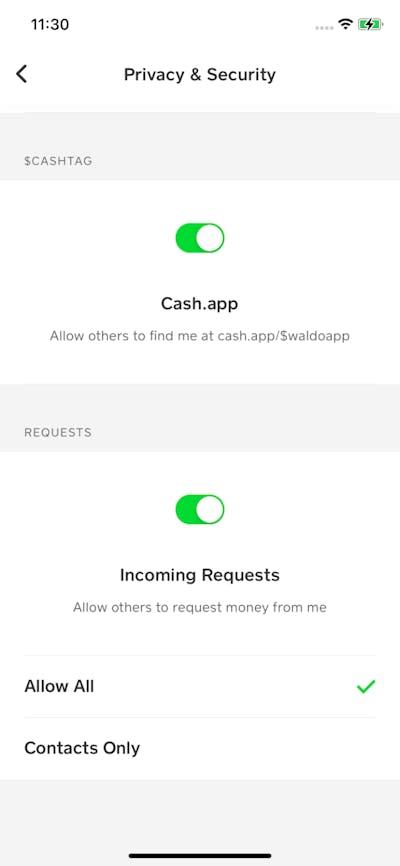 Privacy & Terms screenshot