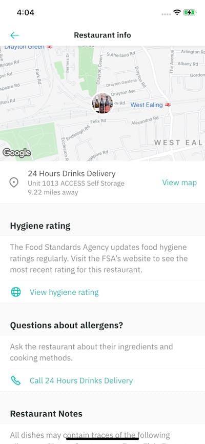 Venue Details screenshot