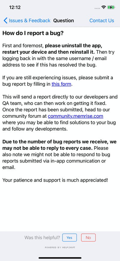 Flag & Report screenshot