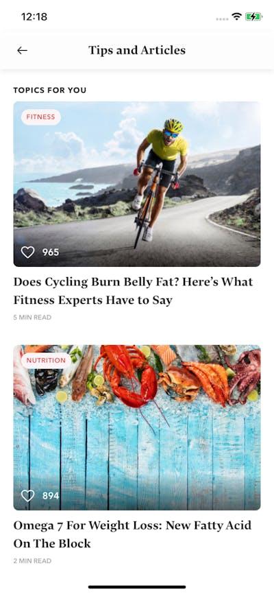 Articles & News screenshot