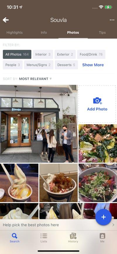 Photos screenshot