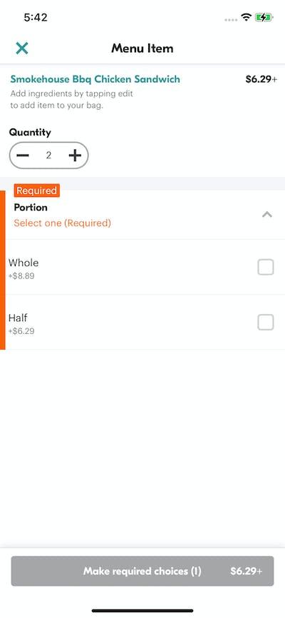 Pricing screenshot