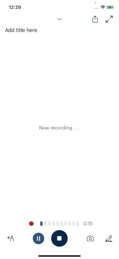 Recording screenshot