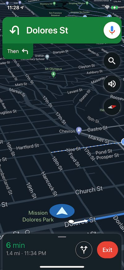 Navigation screenshot