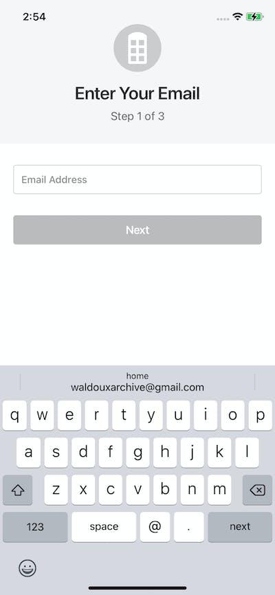 Signups screenshot