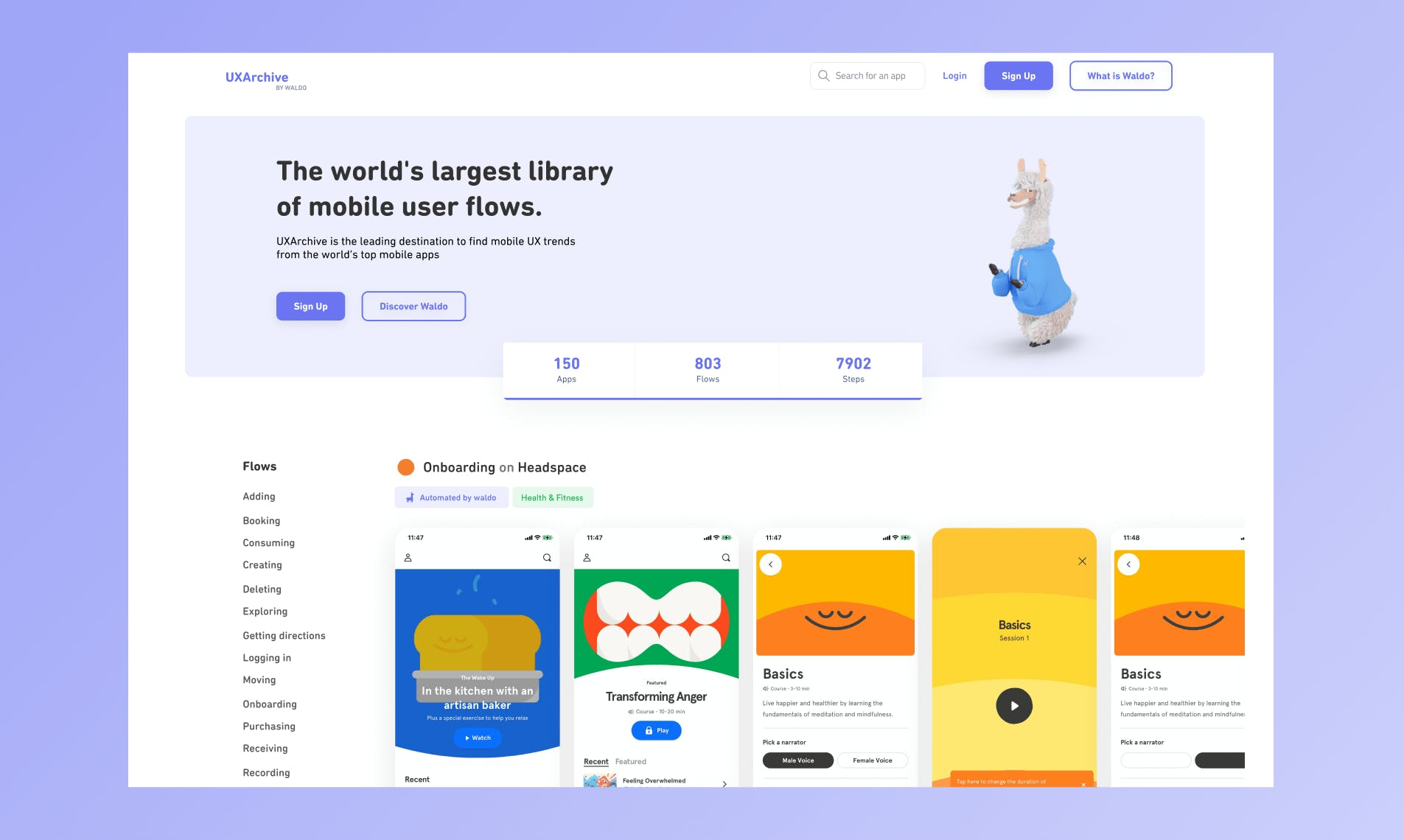 UXArchive Homepage